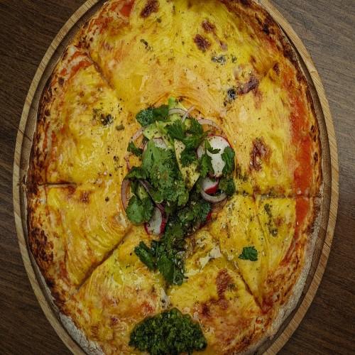 פיצה, עגבניות טריות ופולנטה
