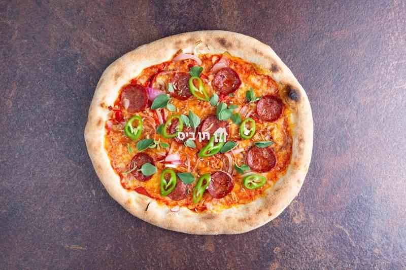 פפרוני, רוטב עגבניות תערובת גבינות פורטו פפרוני...