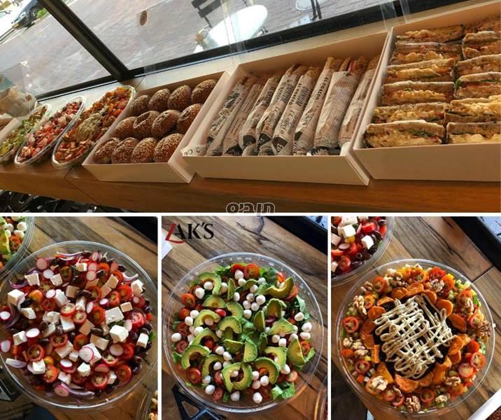 סלט פנצנלה, עגבניות שרי, פלפלים צבעוניים, בצל, מוצרלה...