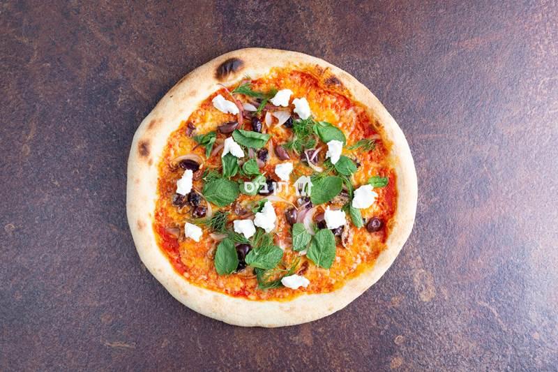 יוונית, רוטב עגבניות תערובת גבינת פורטו זיתים...